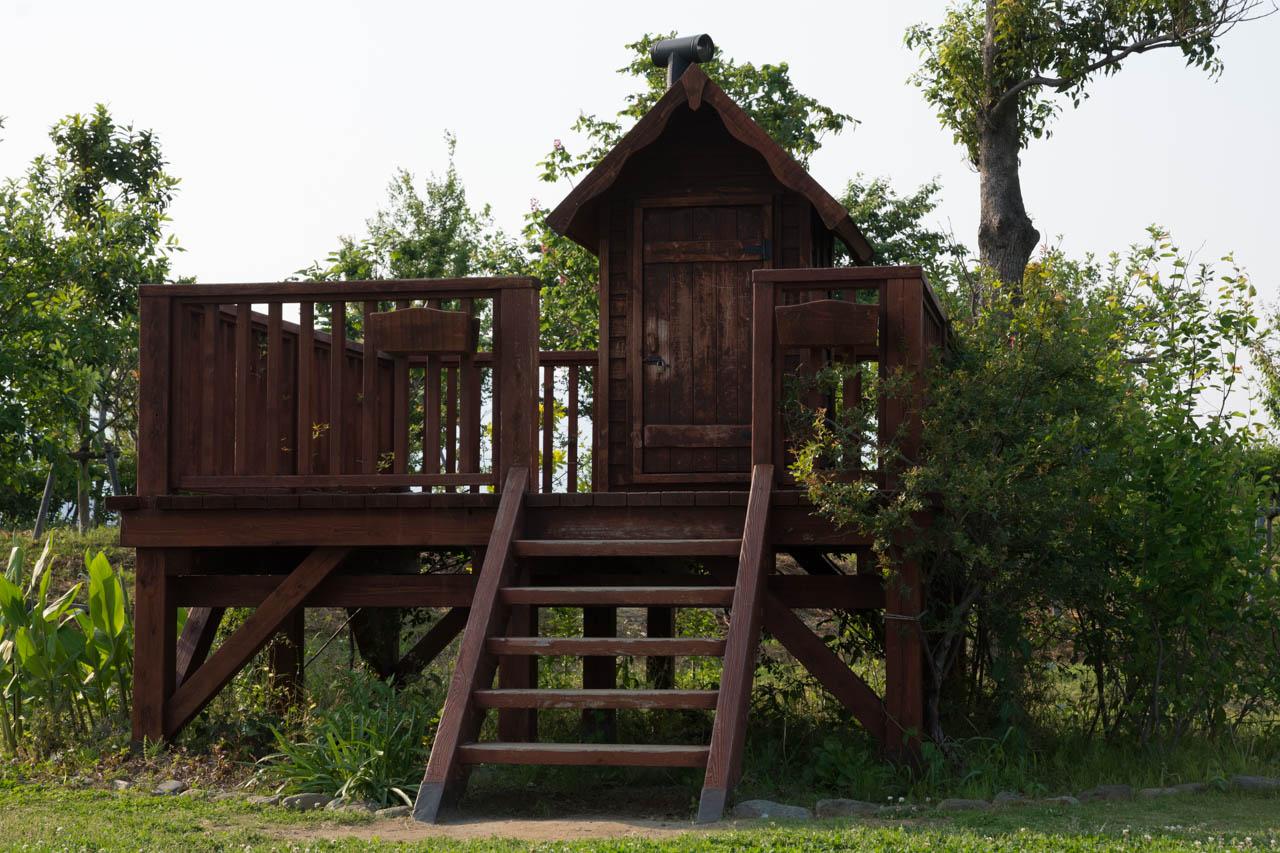 水田辺りにある小さな小屋