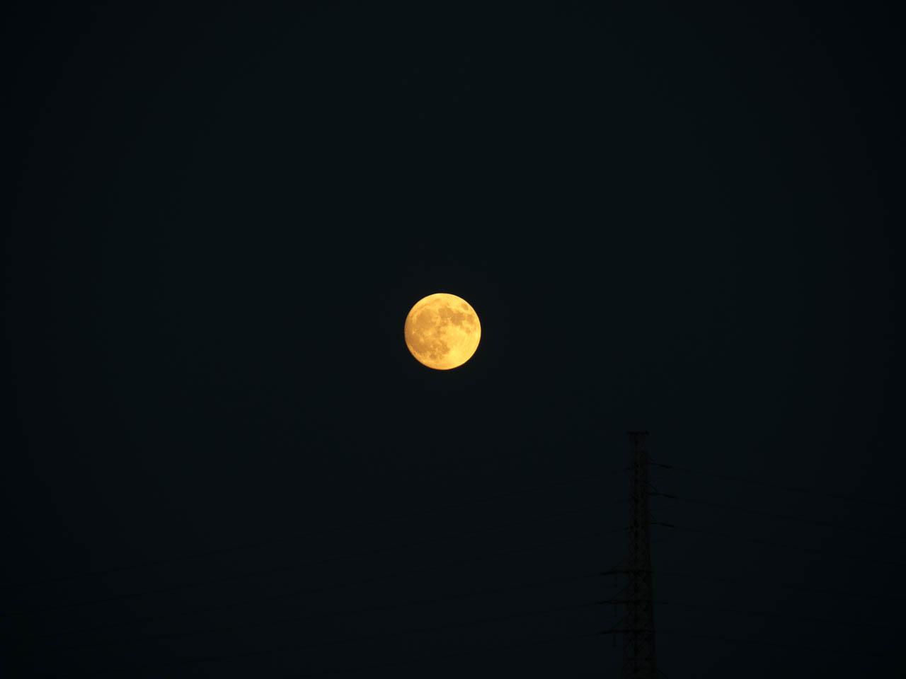 東の空に月が見えていた