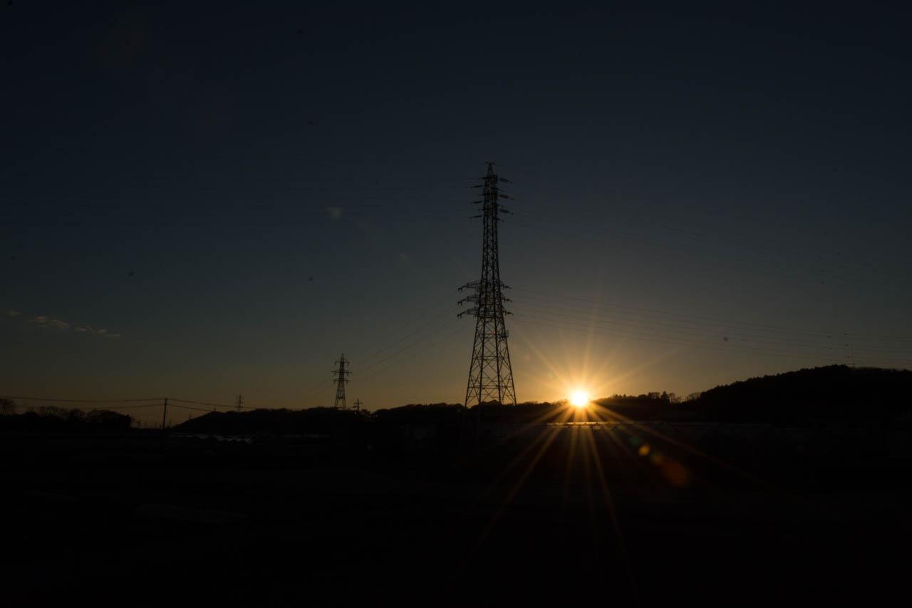 日が落ちる
