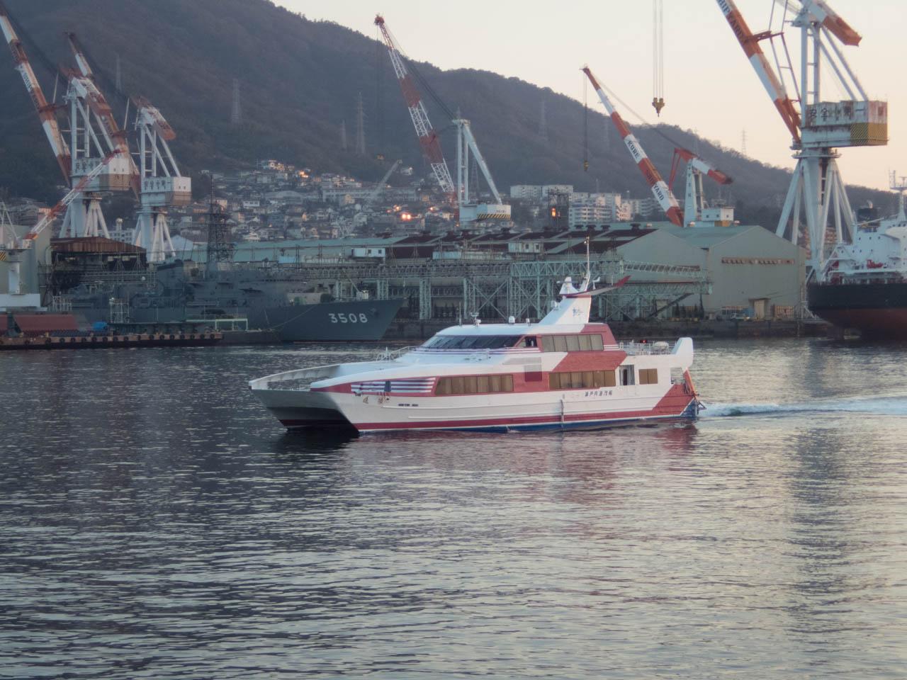 広島松山航路の高速船