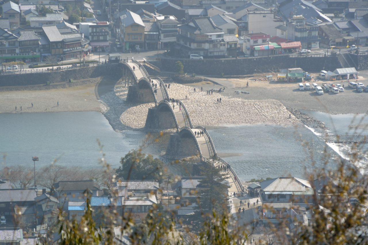 錦帯橋を始めとする岩国観光地帯を見下ろすことが出来る絶景