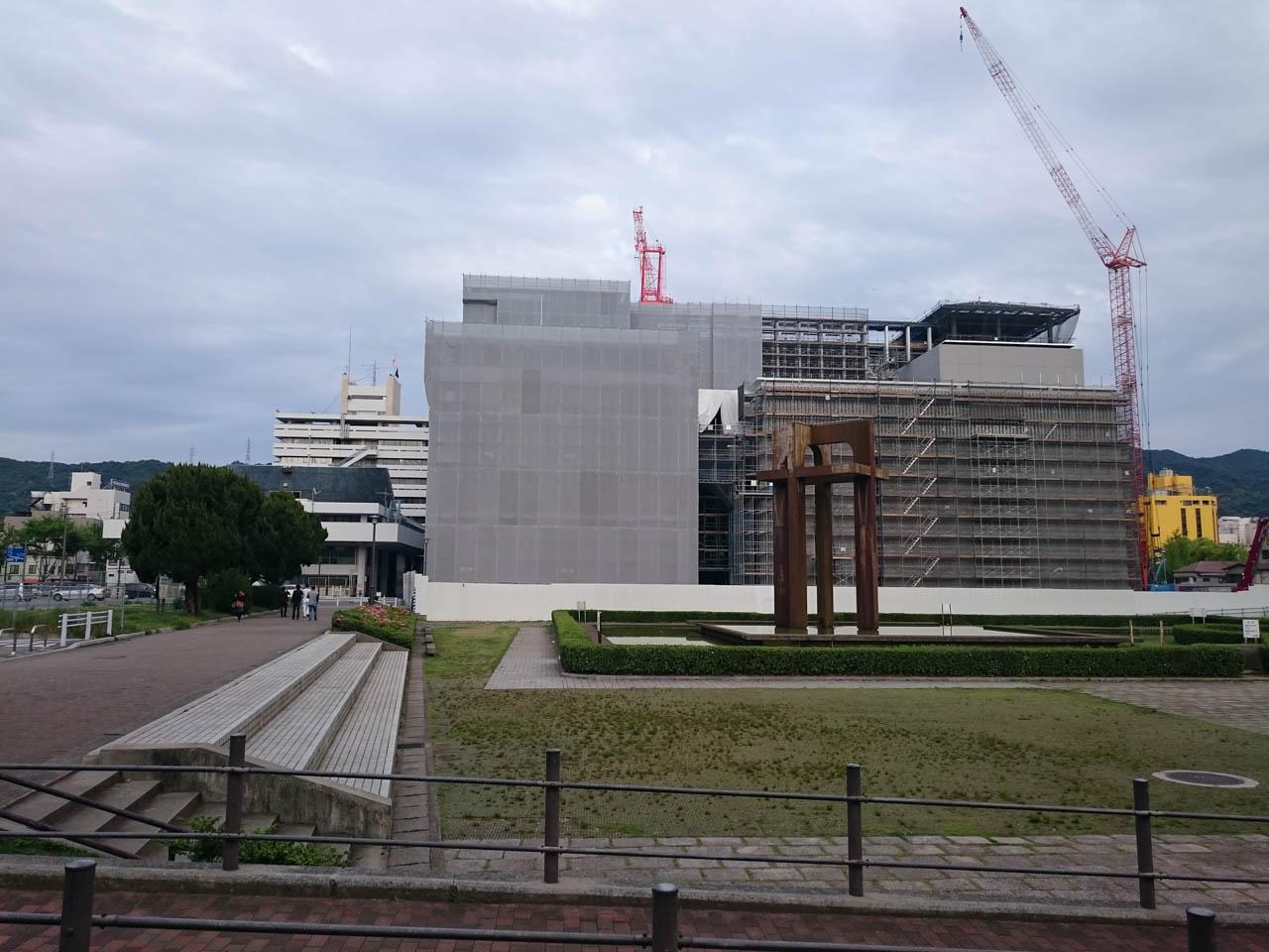 新市庁舎の建築真っ最中