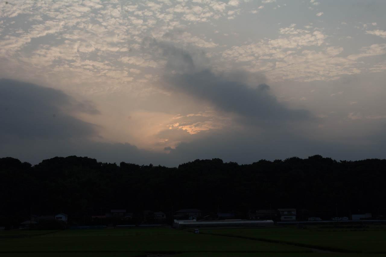 雲が出てきてこの有様