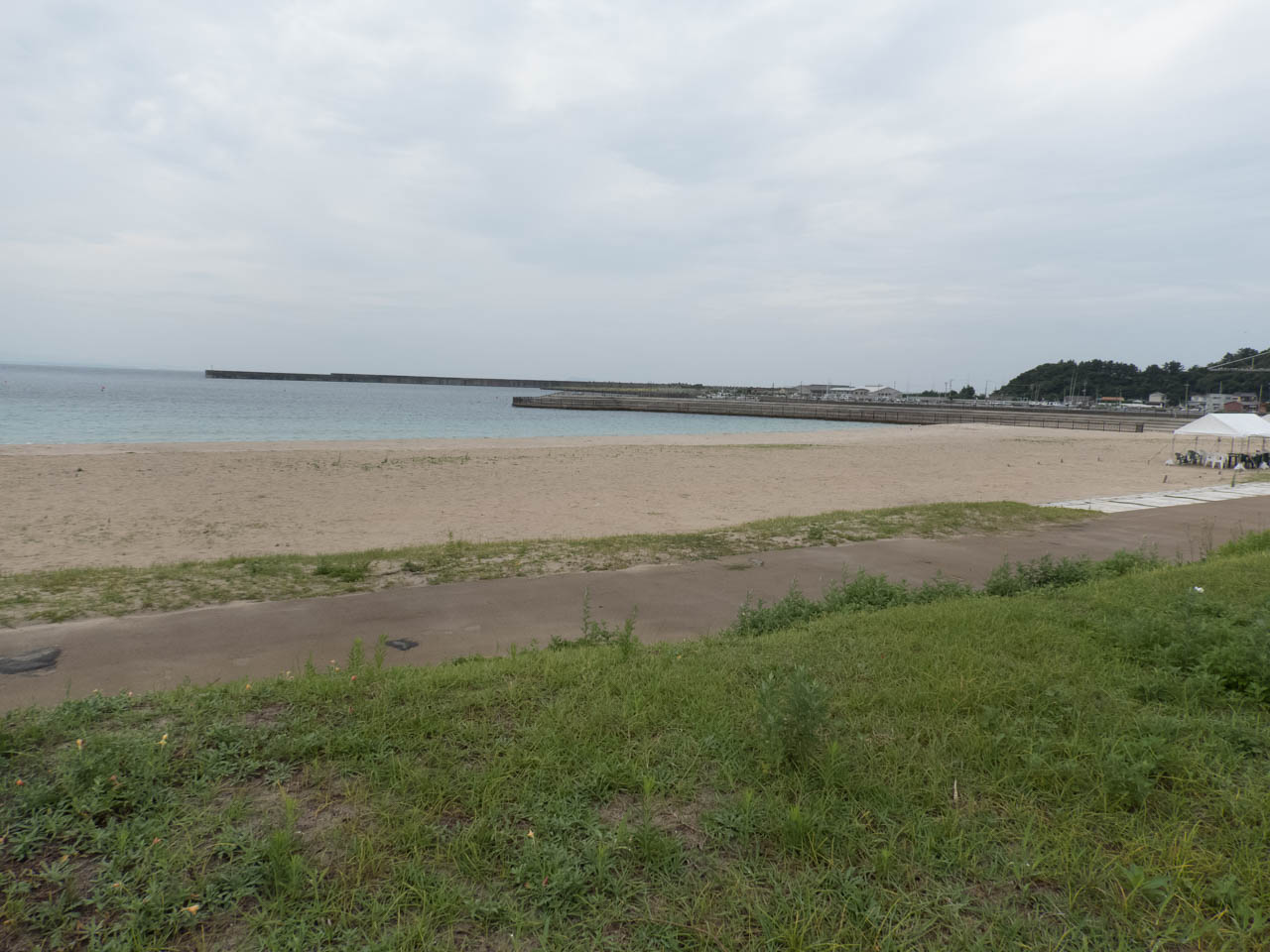 立派な海水浴場
