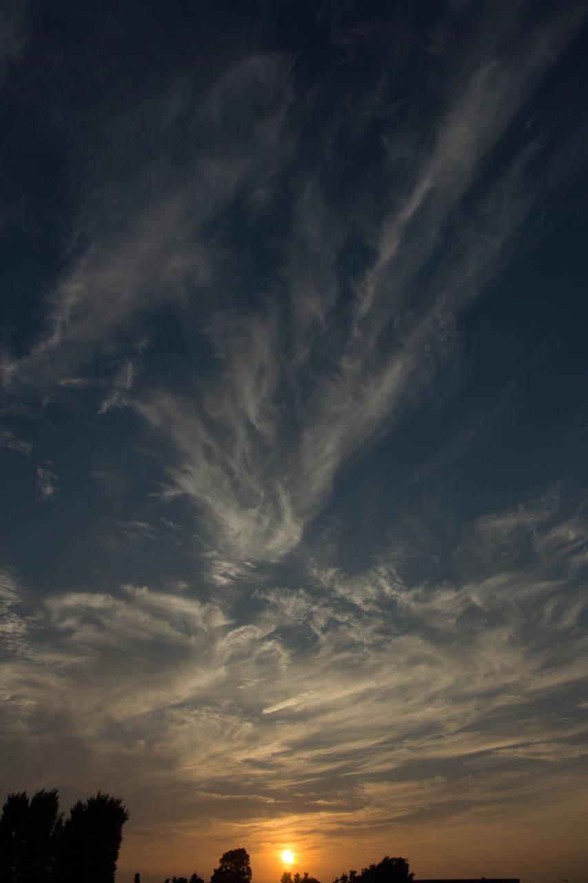 繊細な雲が美しい
