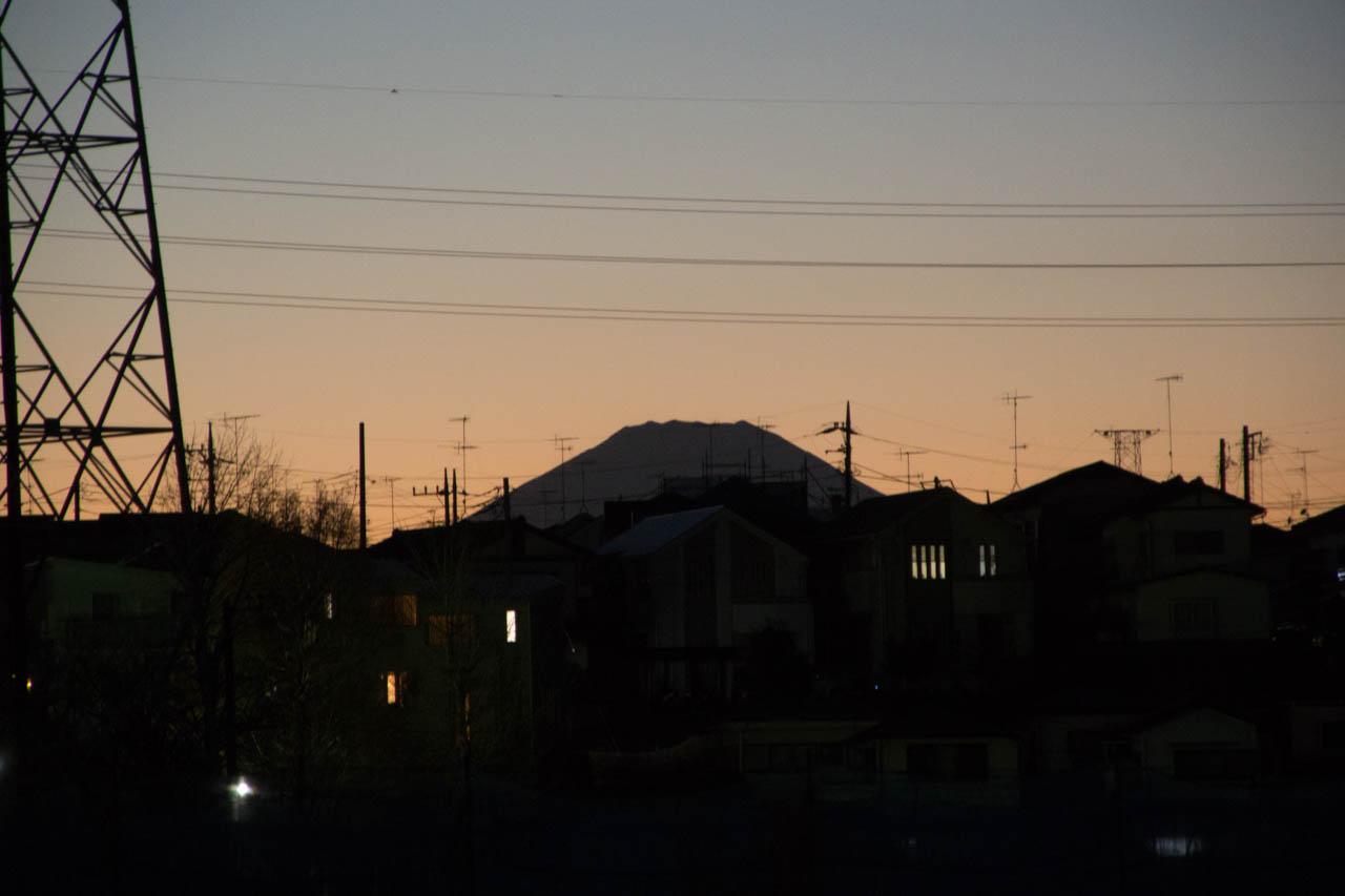 富士を目にした