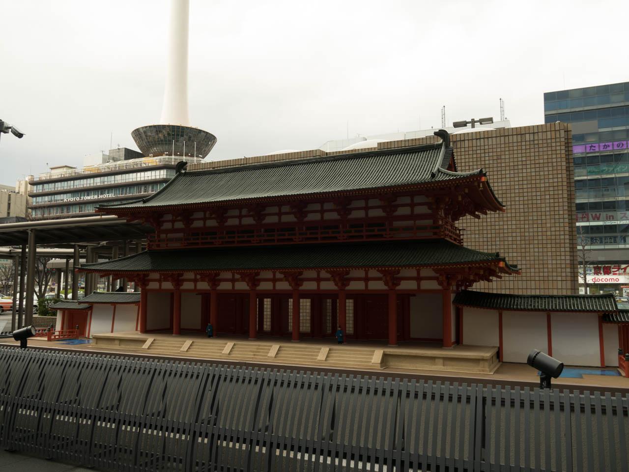 羅城門の模型