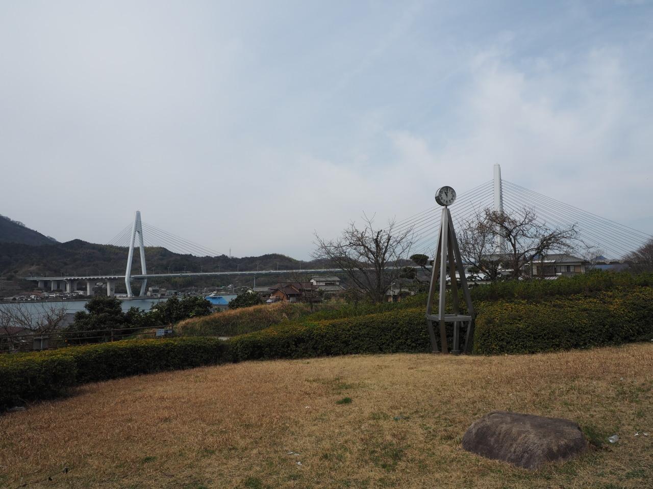 生口橋の因島側登り口