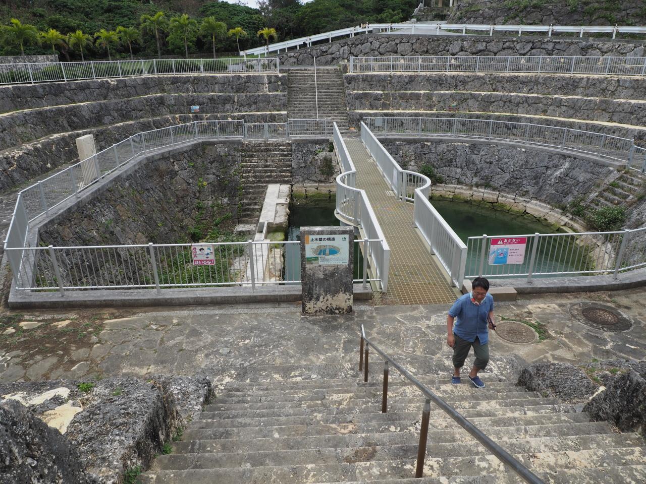 こんな風に地下ダムの一部を開口し