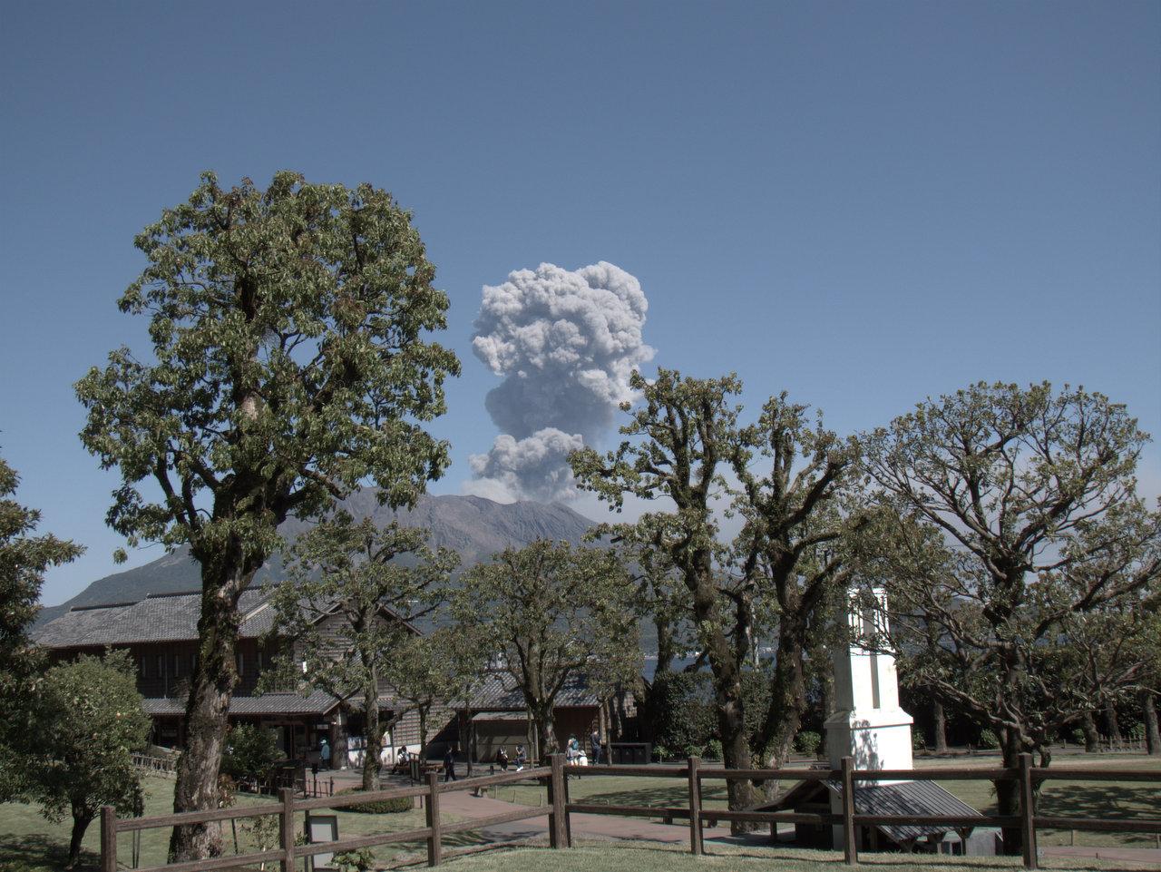 桜島が噴火した